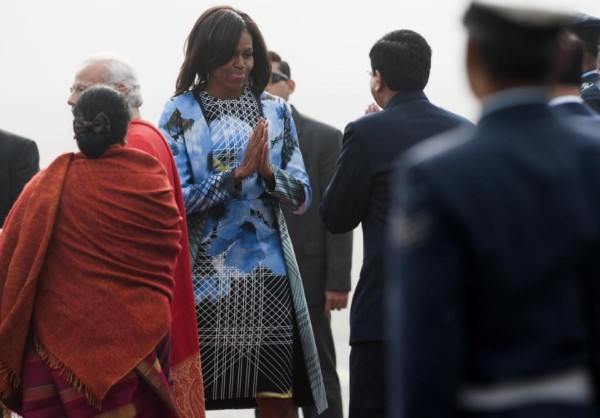 Michelle Obama in New Delhi, India