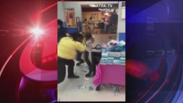 Jackson Hewitt and Walmart fight between women