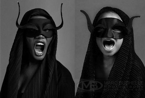 Lily as model and musician Grace Jones. Photo by Marc Bushelle Photography.