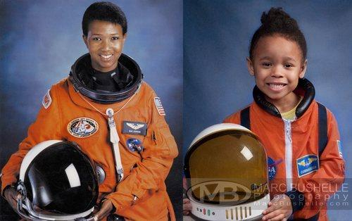 Lily as Dr. Mae Jemison, the first African American woman to travel into space. Photo by Marc Bushelle Photography.