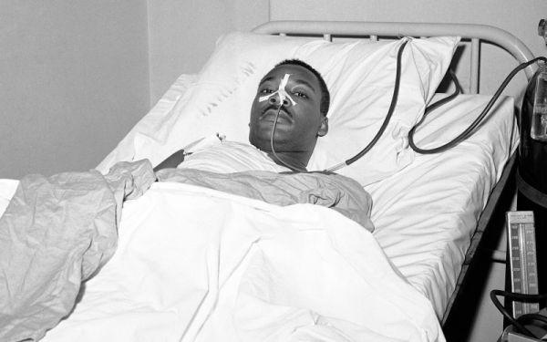 MLK in hospital after stabbing
