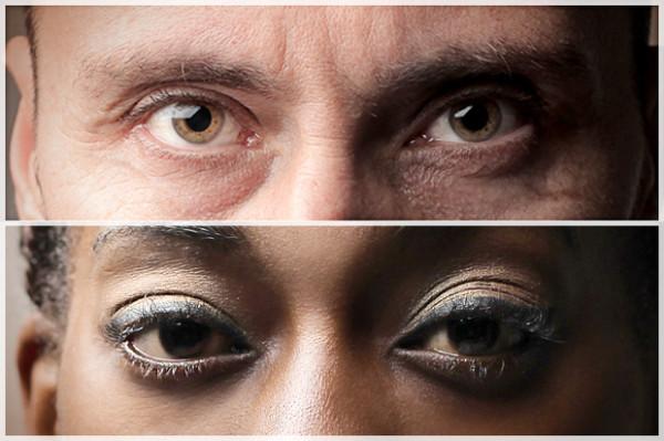White mans eyes