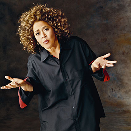"Anna Deavere Smith in ""NEVER GIVIN' UP' at The Broad Stage in Santa Monica through April 26th."