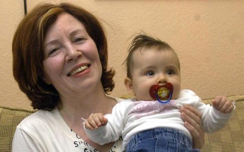 Raunigk here with one of her grandchildren.