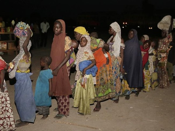 Some of the women and children rescued from Boko Harem terrorist group