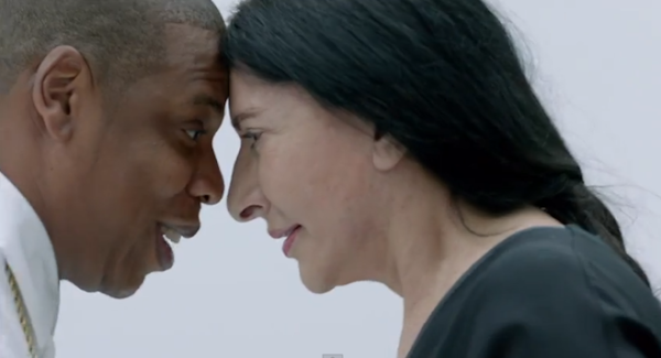 Jay Z and artist Marina Abramovic