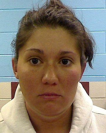 Jessica Mae Hardin is seen in a booking photo released by the Etowah County Sheriff's Office