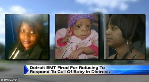 EMT worker, baby, baby mother