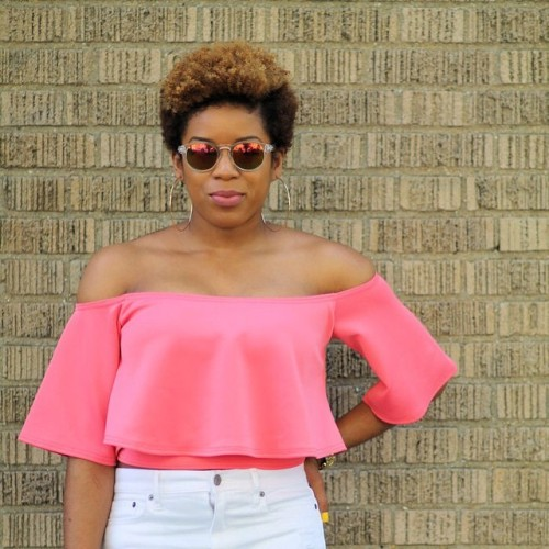 """@MelissaChanel  """"I keep my low-maintaince tapered 'fro intact with weekly washes and then it's just moisturize, fluff, and go! Let your 'fro be the boss."""""""