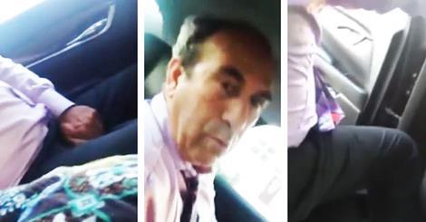 Uber driver fondles self