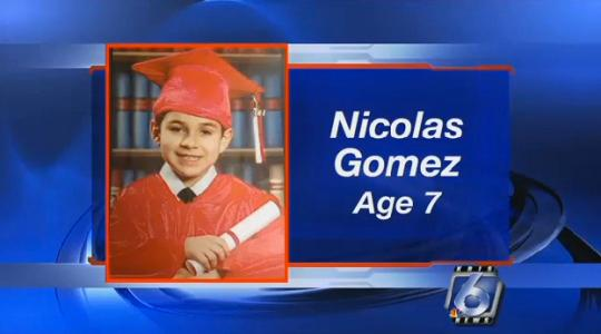 Nicolas Gomez is at home safe and sound thanks to an alert pizza store employee