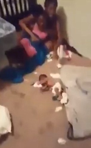 Infant thrown to ground