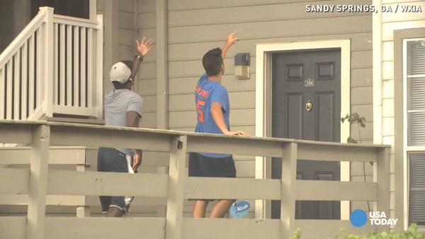 neighbors prepare to catch girls
