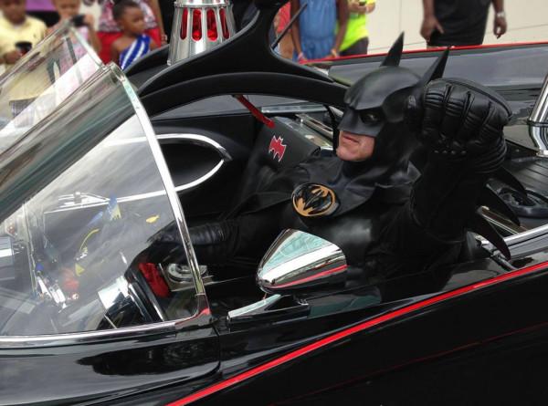 """Batman"" aka Lenny Robinson in his Lamborghini"