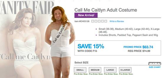 Caitlyn Jenner Adult Unisex Costume Timely for Halloween, But LGBT ...