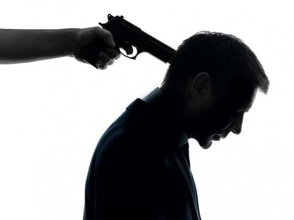 Gun to head, man raped