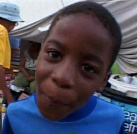 Charles Evans, 9, Katrina aftermath
