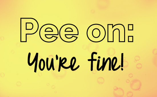 Pee, what yellow would say