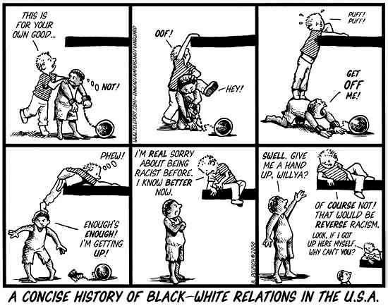 cartoon on race