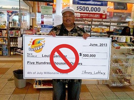 Lottery checks bounce