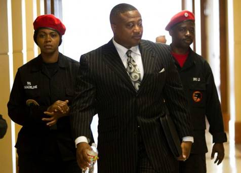 """Quanell X says it's important to him that people know """"we love good cops."""""""