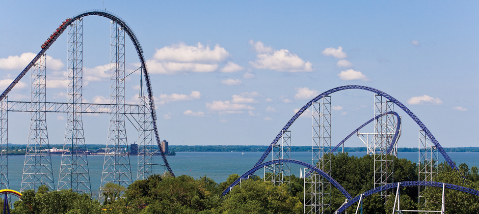 Cedar Point's flagship coaster, Millennium Force.  It literally takes your breath away!