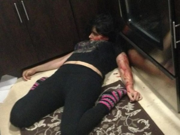 Jennifer Alonzo dead on her kitchen floor