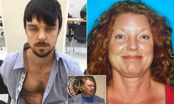 Ethan Couch, with new darker hair disguise and his mother, Tonya Couch