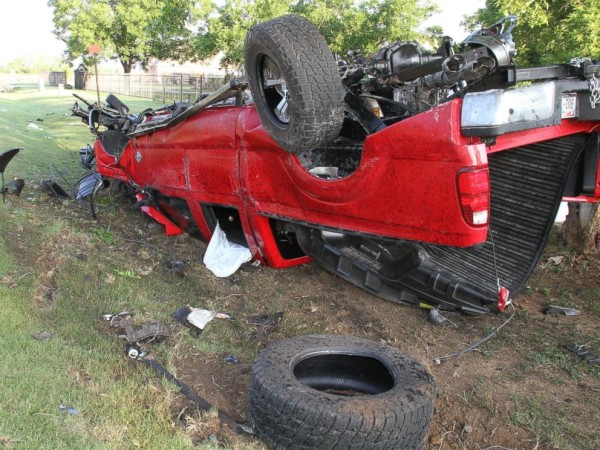 The car that Ethan Couch and friends traveling in when they crashed