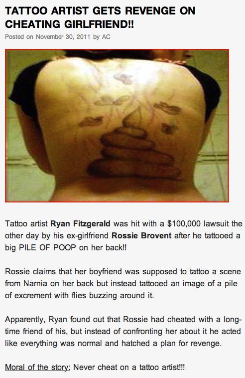 poop tattoo