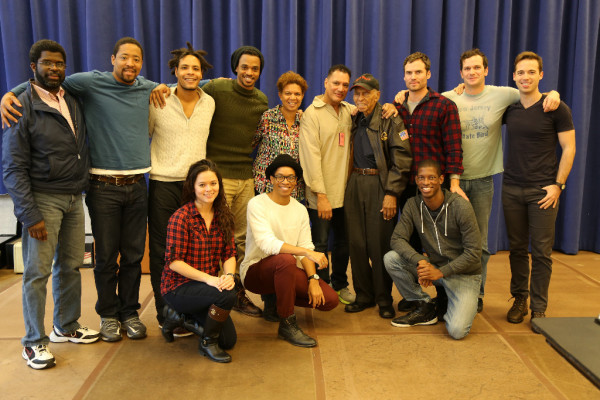 The company of FLY with Dr. Roscoe Brown, Tuskegee Airman and Chief Technical Consultant for FLY Click on the image to view the high-res version. Photo by The Pasadena Playhouse