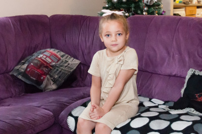 Kaya Langmead, 4. Mum Nicole Langmead was furious after pranksters superglued her four year old daughter Kaya to a toilet in McDonalds in Exeter, Devon. See SWNS story SWGLUE; A mum has condemned pranksters after her four-year-old girl was SUPERGLUED to a toilet seat in McDonald's. Furious Nicole Langmead, 24, was enjoying a meal at the fast food branch when her four-year-old daughter Kaya used the loo while she waited outside. But several minutes later the youngster emerged from the ground floor cubicle in agony saying she had been stuck on the seat. Nicole found a strong clear adhesive - believed to be superglue - had been smeared over the seat which had ripped some skin off of Kaya's legs. Police are investigating and want to talk to two teenage girls who were came out of the cubicle in Exeter, Devon, just before Kaya went in.