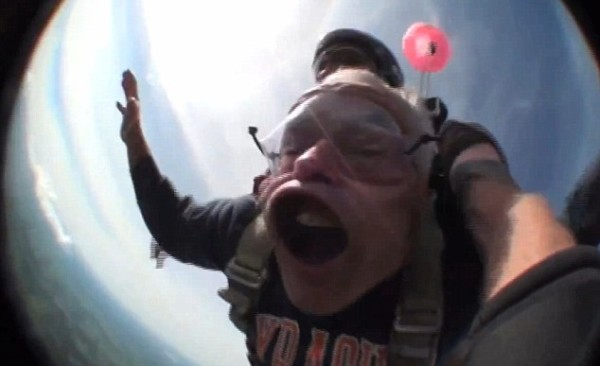 skydiver face