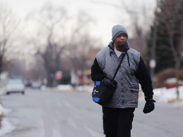 Man walks 21 miles to work, James Robertson