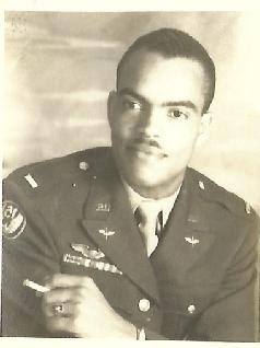 The handsome Capt. Robert W. Williams during his time with other Tuskegee Airmen fighting WWII. Courtesy Mrs. Joan Williams.