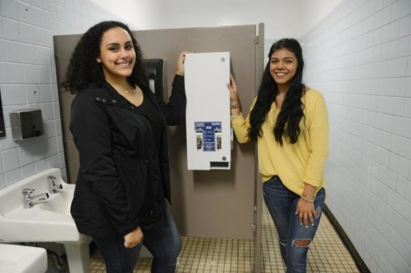 feminine products in city schools, for free