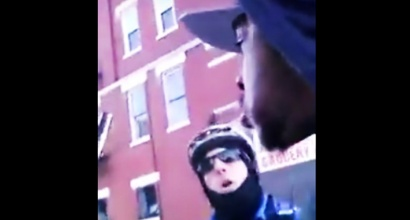 Cop confronts Charles Harell.