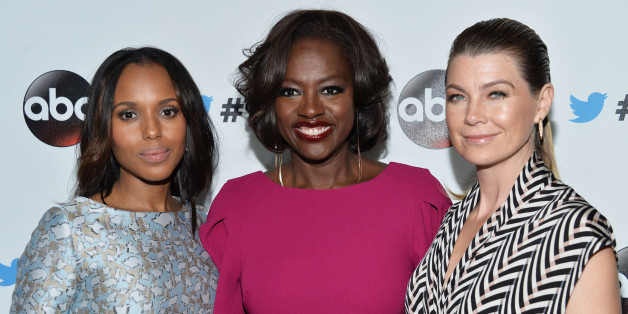 WEST HOLLYWOOD, CA - SEPTEMBER 20:  Actresses Kerry Washington, Viola Davis and Ellen Pompeo arrive at the #TGIT Premiere Event hosted by Twitter at Palihouse Holloway on September 20, 2014 in West Hollywood, California.  (Photo by Amanda Edwards/WireImage)