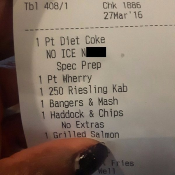 receipt, no ice nigga