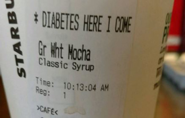 diabetes, starbucks cup