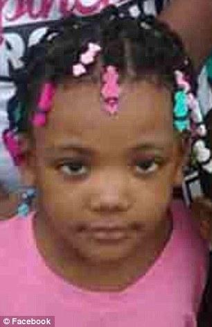 little girl shot in face