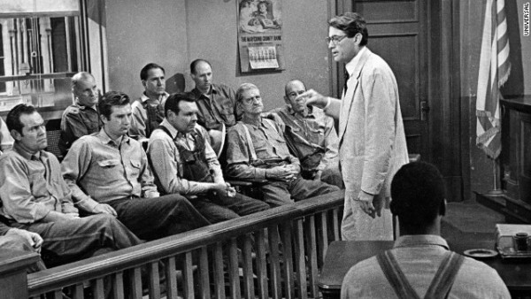"Scene from 1962 film, ""To Kill A Mockingbird"""