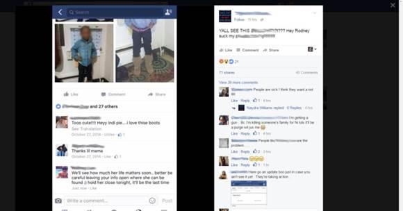 Facebook, police threat
