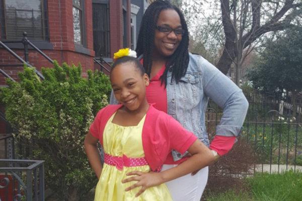 Stephanie Goodloe and her daughter, Simaya