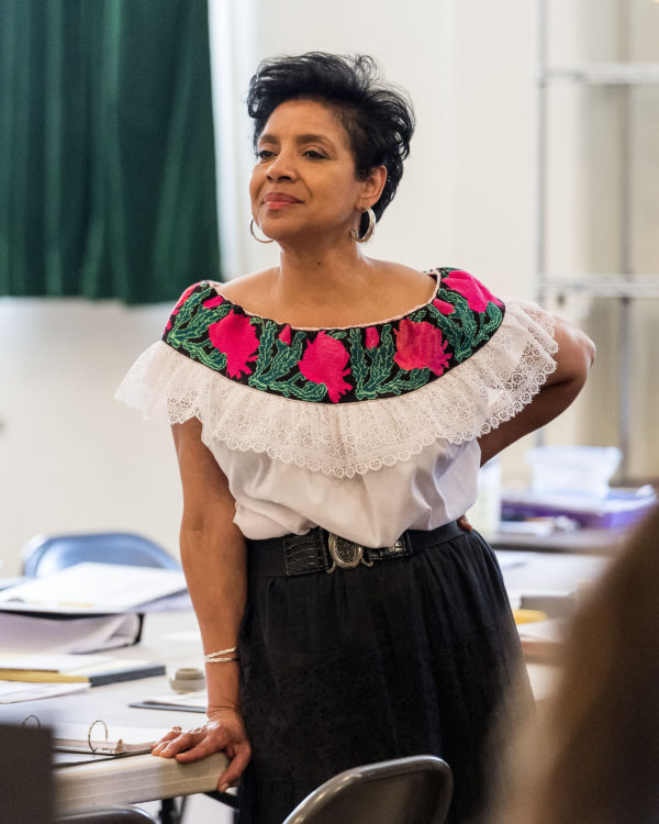 "Director Phylicia Rashad on the first day of rehearsal for August Wilson's ""Ma Rainey's Black Bottom"" at Center Theatre Group/Mark Taper Forum. Photo by Craig Schwartz."