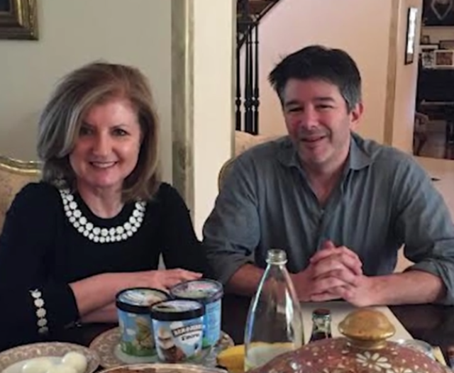 Arianna Huffington and Uber co-founder Travis Kalanick apparently love the same ice cream I do!