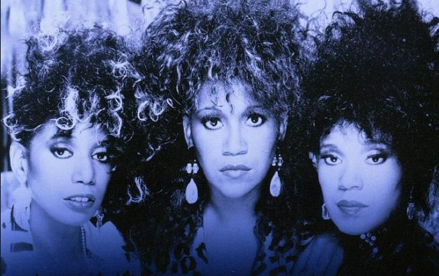 June, Ruth, and Anita Pointer, L-R, of The Pointer Sisters, circa 1985.