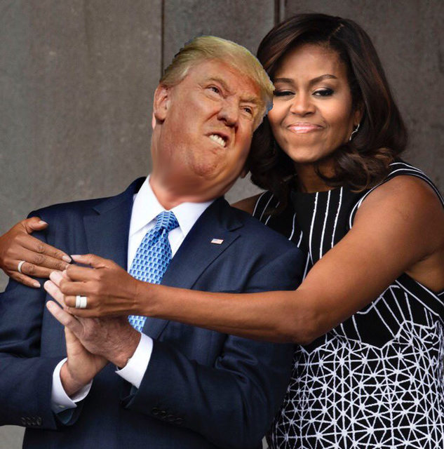 first-lady-hugs-bush-with-trump-face