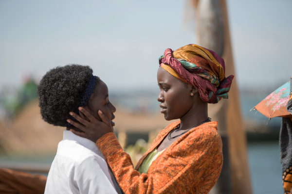 Lupita Nyong'o and Madina Nalwanga star in the triumphant true story QUEEN OF KATWE, directed by Mira Nair. Photo Credit:  © 2016 Disney Enterprises, Inc. All Rights Reserved.