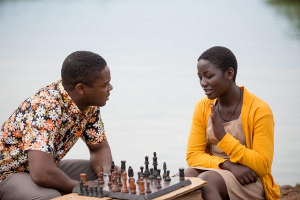 Golden Globe® nominee David Oyelowo (L) and newcomer Madina Nalwanga (R). Photo courtesy © 2016 Disney Enterprises, Inc. All Rights Reserved.